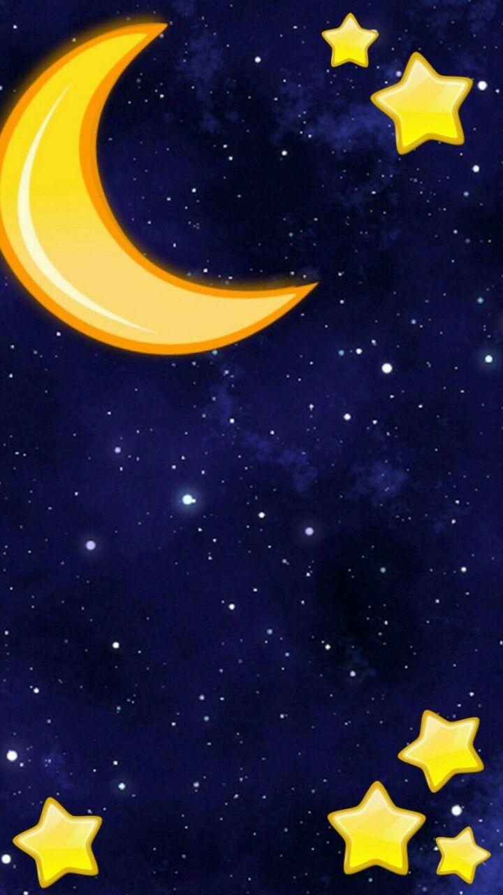 Pin By Melanie Delgado On Wallpapers Moon Stars Wallpaper