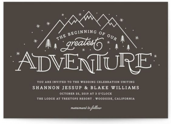 Adventurous Wedding Invitations