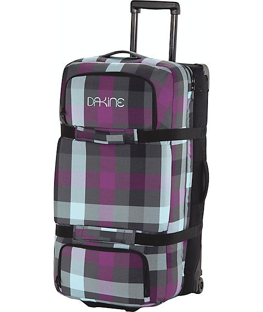 03f6a602ec57f The Large Split Roller suitcase from Dakine is a large roller luggage bag  with room for everything you need and anything you acquire along the way.