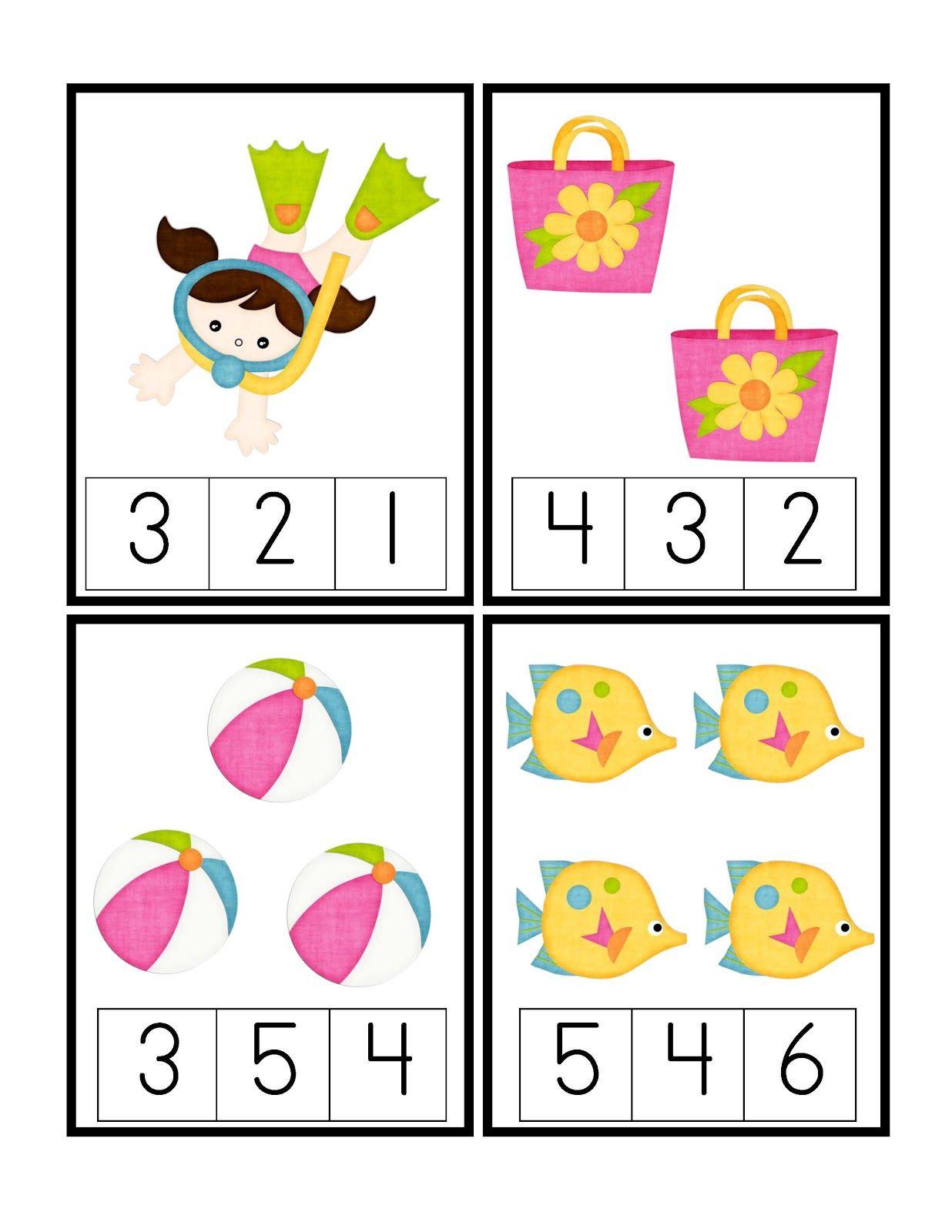 Preschool Printables: Fun in the Sun Printable | Matematicas ...