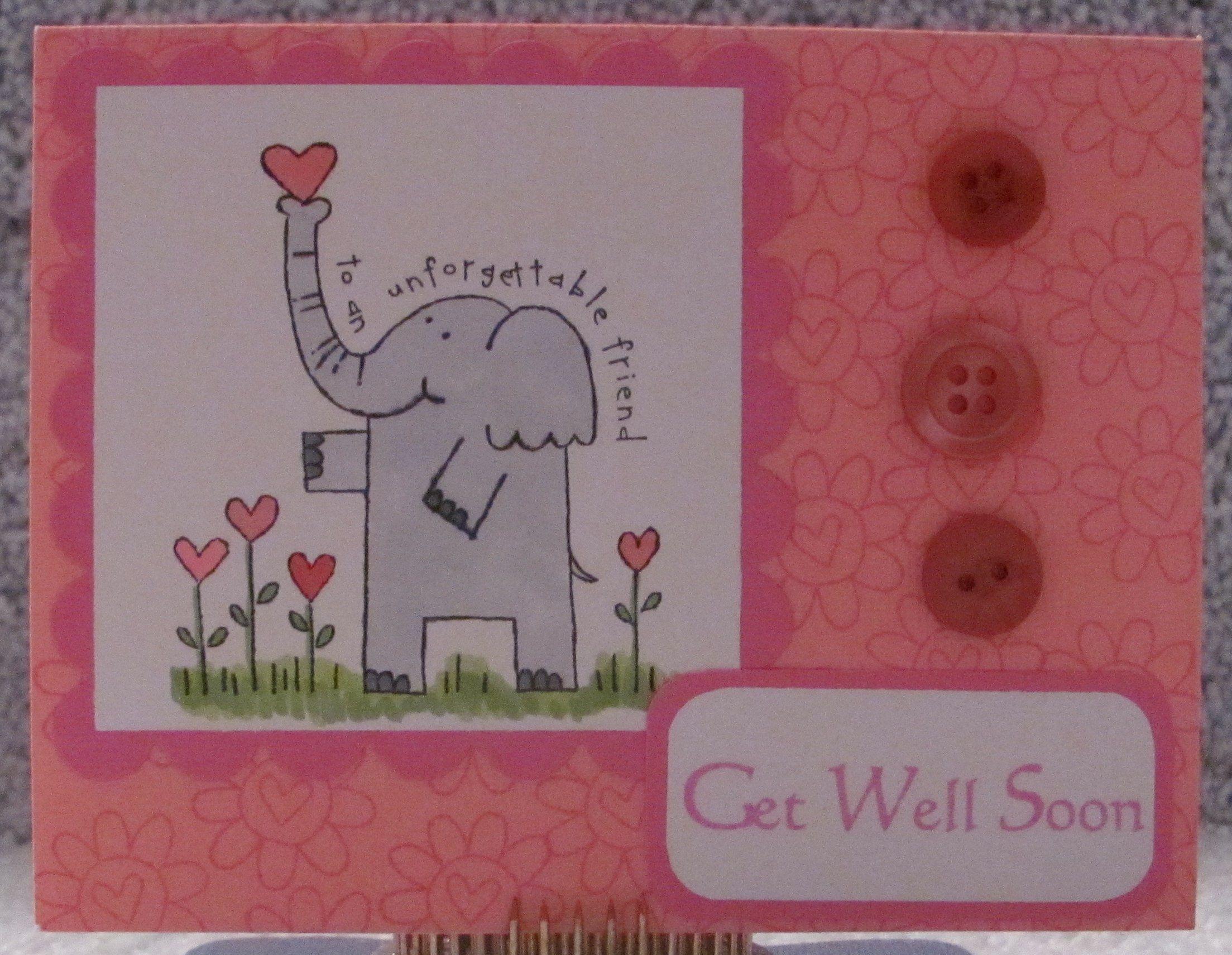 Pinterest get well card ideas get well soon adorable elephant a2 pinterest get well card ideas get well soon adorable elephant a2 greeting card kids kristyandbryce Images