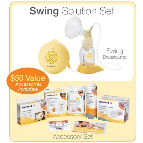 Medela Swing Single Electric Breast Pump Solution Set With