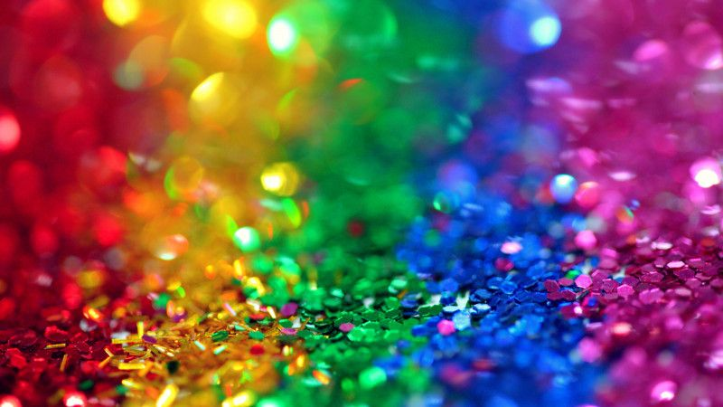 Download Rainbow Colored Glitter Wallpaper Now In Hd 4k Free