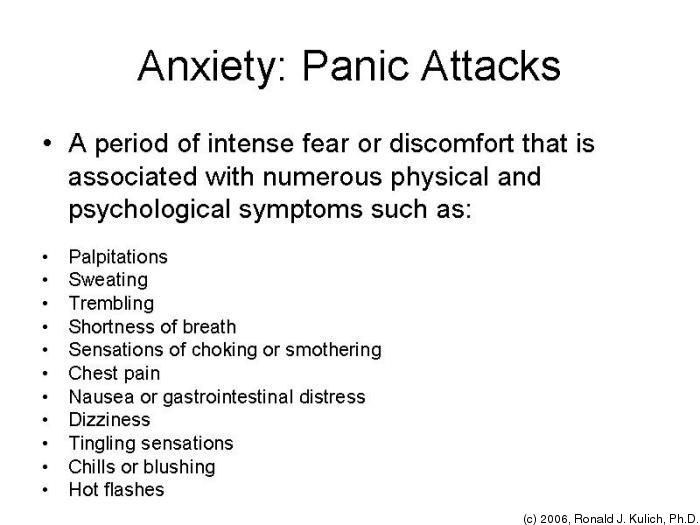 I need help with my panic disorder outline?