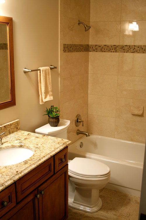 Traditional Travertine Guest Bathroom Kirkwood Mo Soothing