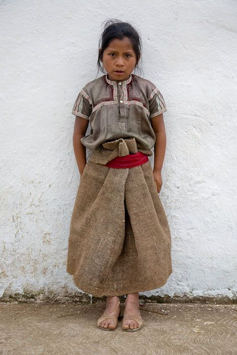 Young girl in traditional dress. San Juan Chamula, Mexico.