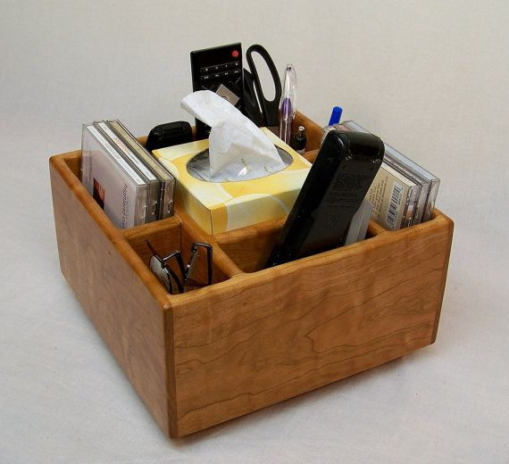 TV Remote Holder Coffee Table Caddy Home Organizer Recycled