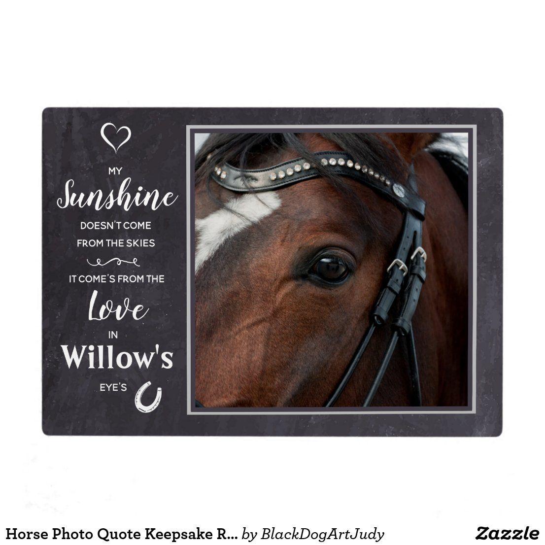 Horse Photo Quote Keepsake Rustic Horse Lover Plaque