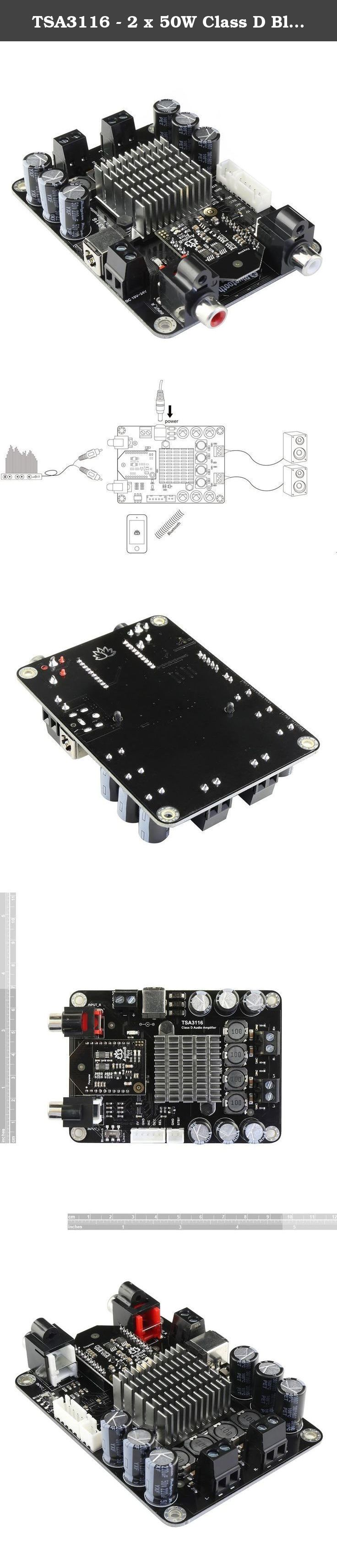 Tsa3116 2 X 50w Class D Bluetooth Audio Amplifier Board With Tda1514a Descriptions This Is
