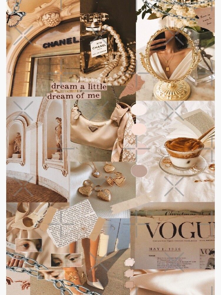 Aesthetic Beige Collage Spiral Notebook