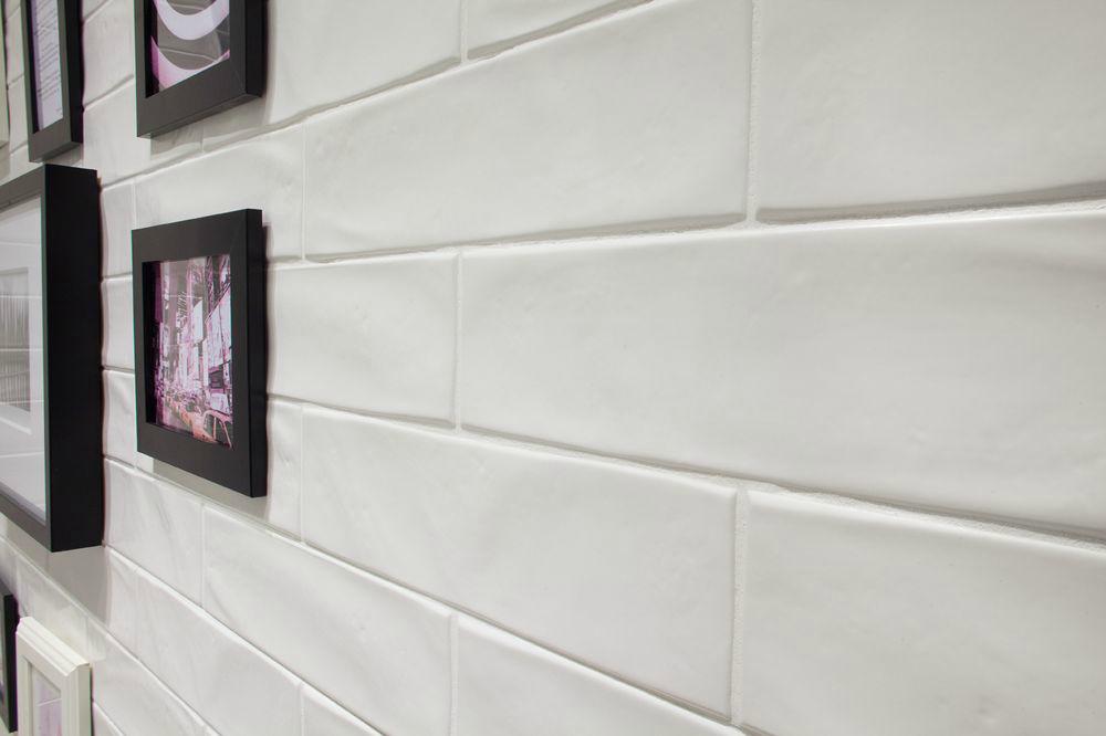 matte subway tile backsplash