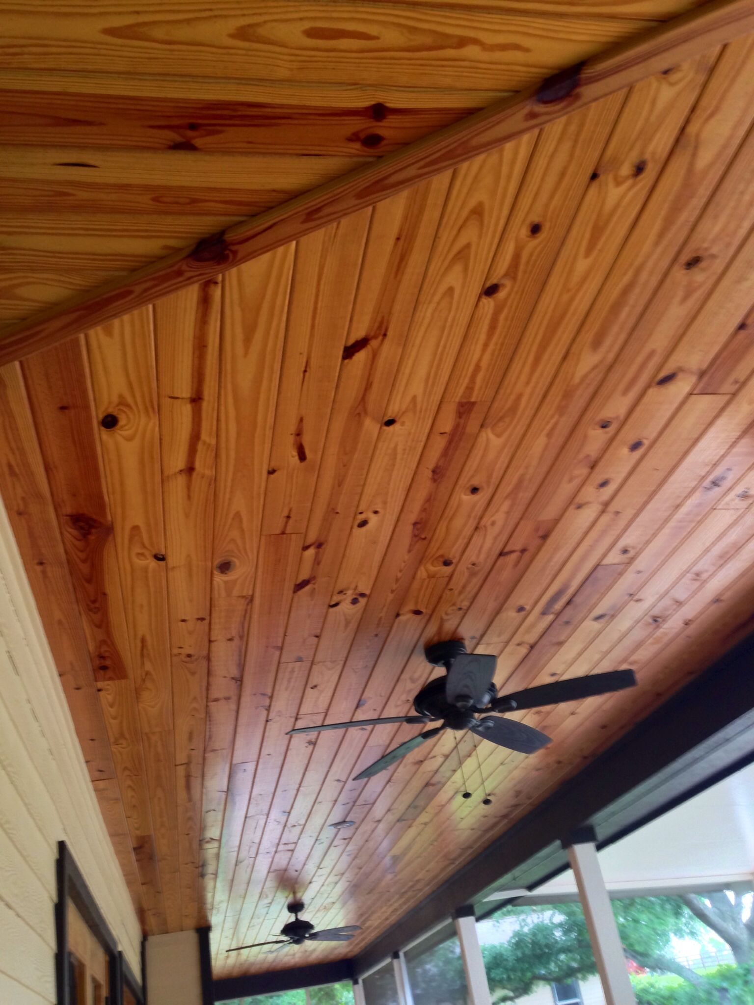 Tongue And Groove Pine Ceiling By Jb Precision Carpentry Inc Tongue And Groove Tongue And Groove Walls House With Porch
