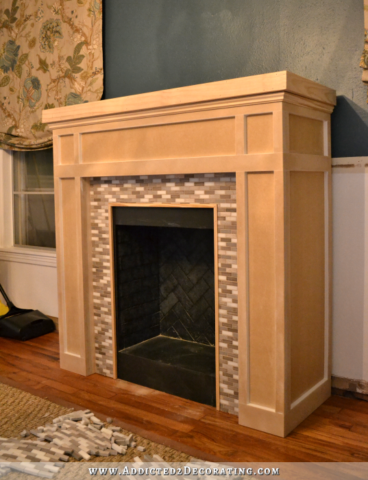 DIY Fireplace Part 5  Trim, Grout, and Mantel | Grout ...