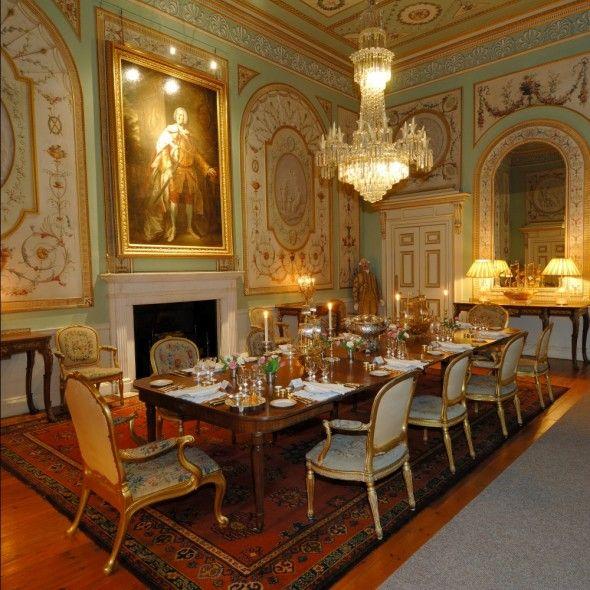 inveraray castle - scotland - 1780s - state dining room has