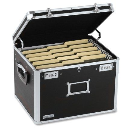 Amazon.com: Vaultz Locking Chest, Letter and Legal Size, 17.5 x 14 x 12.5 Inches, Black (VZ01008): Office Products