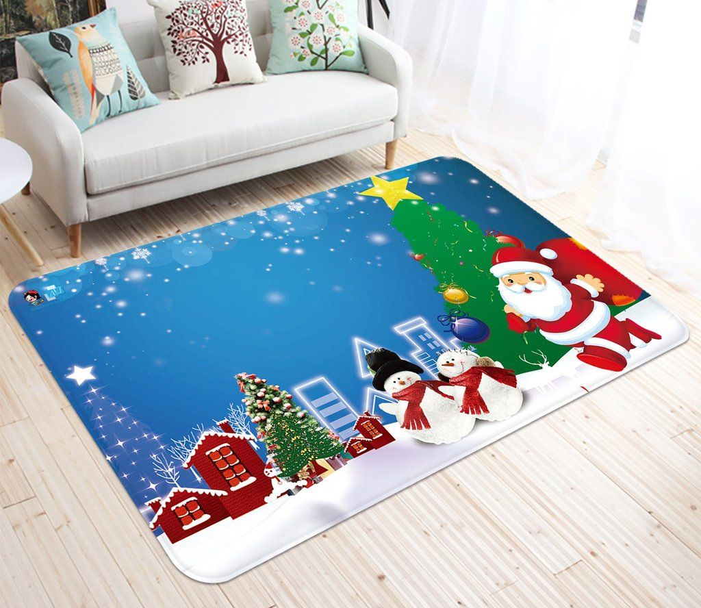 3d Cartoon Christmas Star 004 Non Slip Rug Mat With Images