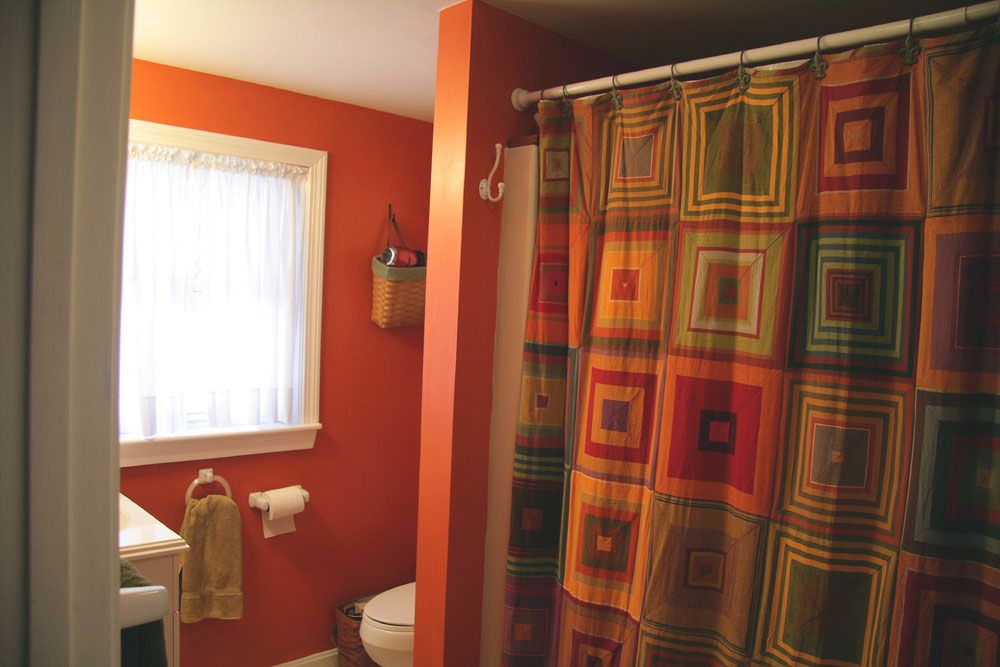 Image Result For Orange Brown Green Shower Curtain