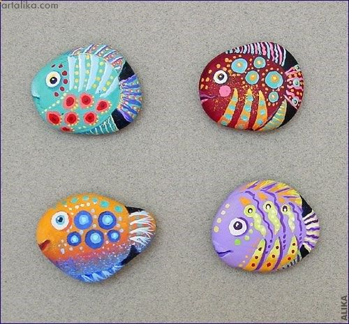 Painted rocks fish looks like the fish in the book only for Fish that looks like a rock