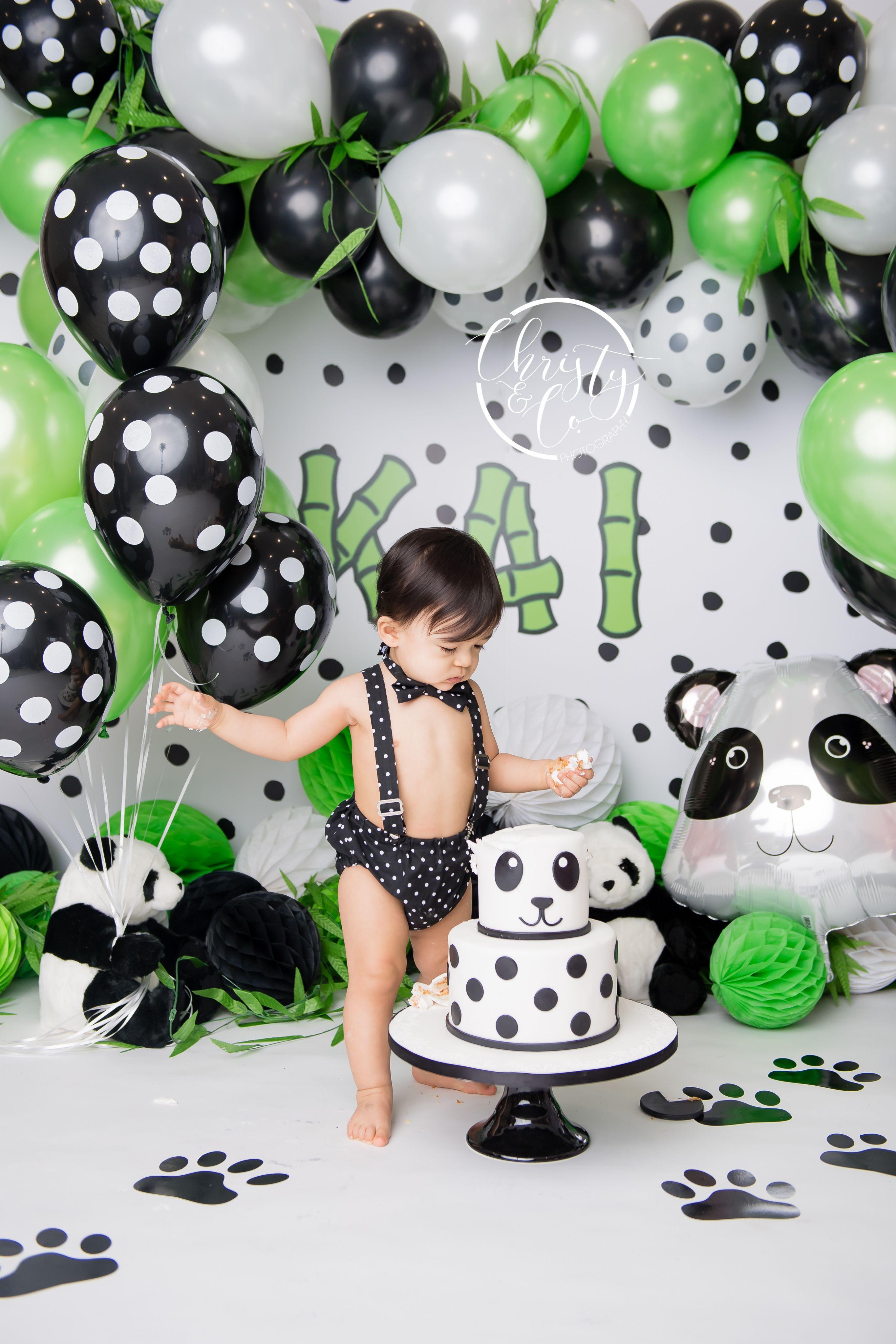 Panda Cake Smash First Birthday Session Christy Co