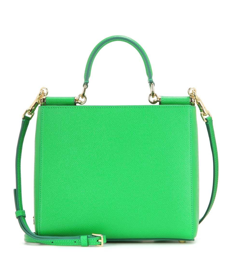 pequeña de Sicily cuero bandolera Gabbana Dolce Green xq8wnO6f6