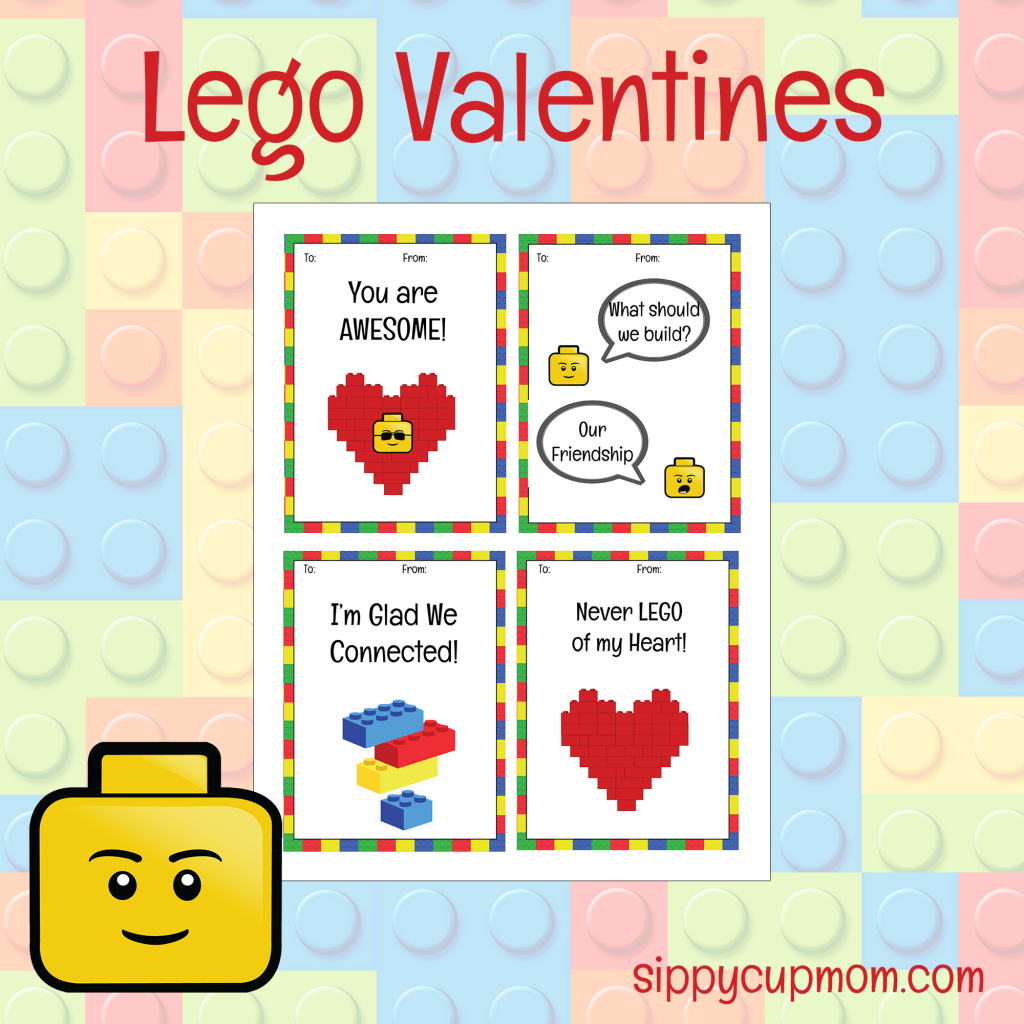 print these free lego valentines day cards everything is awesome
