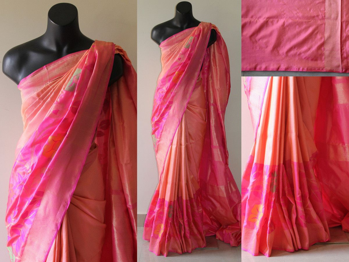 Baby Pink With Pink Banaras Saree Banaras Saree Pinterest