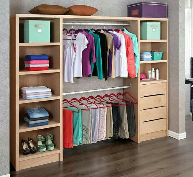 Resultado de imagen de closet con bloques home en 2019 for Armarios roperos rusticos baratos
