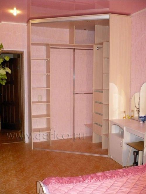 фото шкафы купе зеркальные угловые встроенные в прихожую и комнату