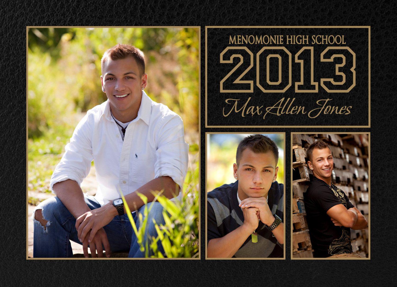Senior Boy Invitation Photoshop Template, Templates, Graduation ...