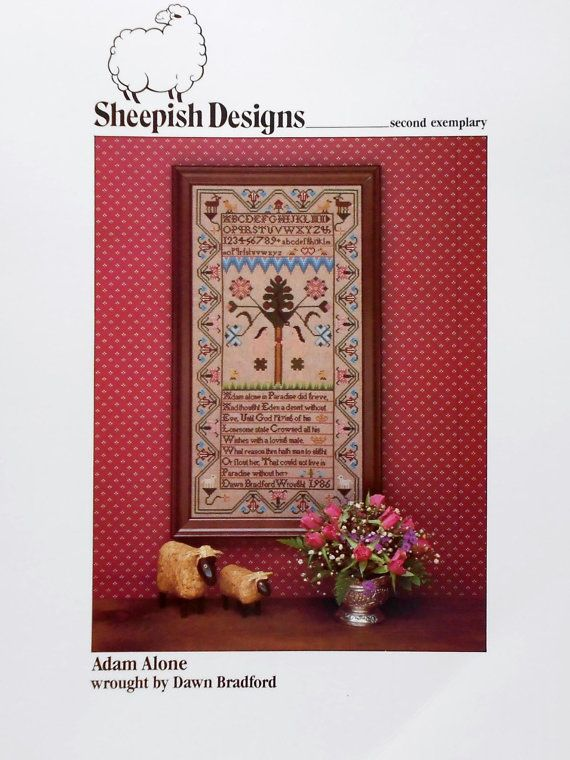 Sheepish Antiques Sampler Cross Stitch CHART-Your Choice