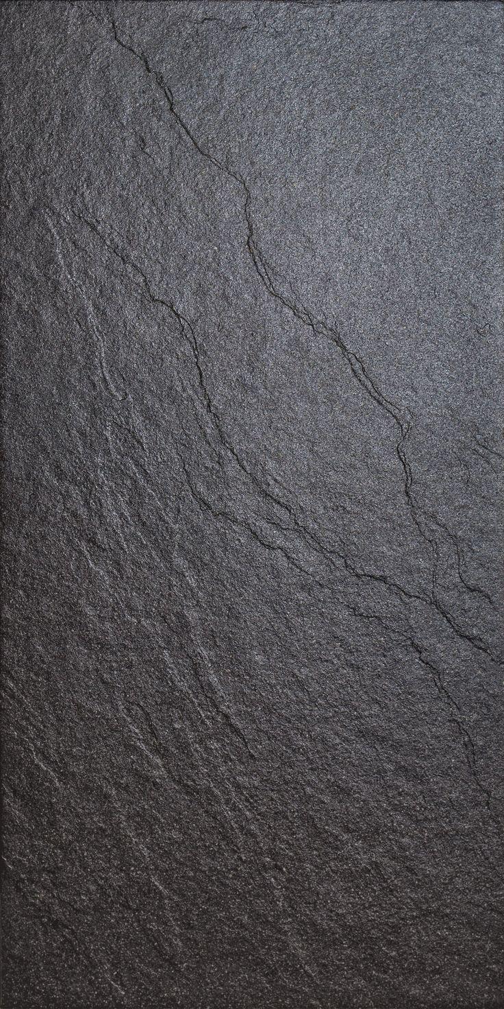 Magma Black Stone Effect Plain Porcelain Wall Floor Tile Pack Of