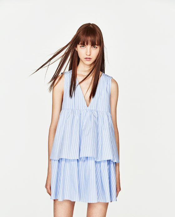 ae9915c70787 Image 2 of STRIPED JUMPSUIT DRESS WITH RUFFLES from Zara