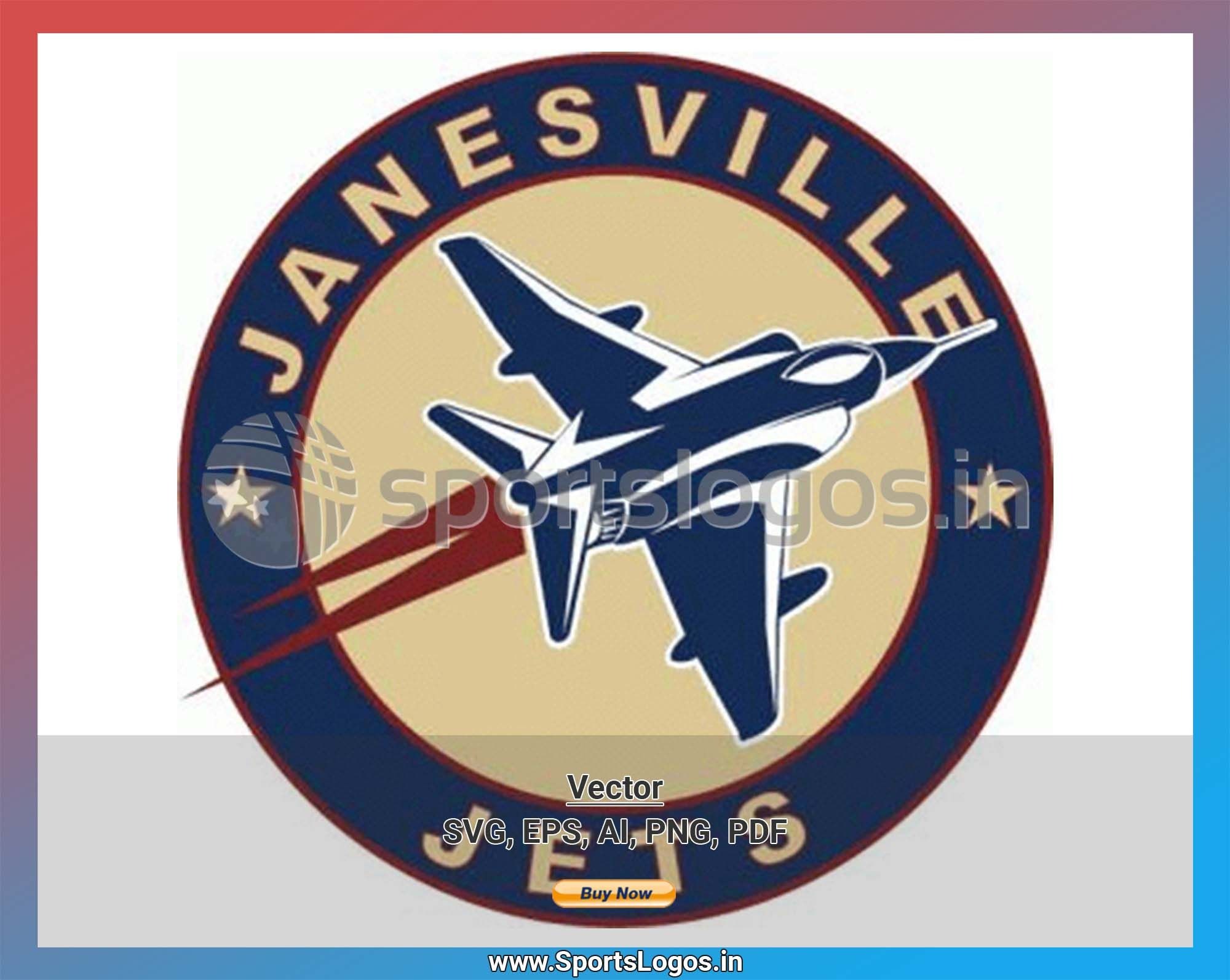 Janesville Jets Hockey Sports Vector Svg Logo In 5 Formats Spln002083 Sports Logos Embroidery Vector For Nfl Nba Nhl Mlb Milb And More In 2020 American Hockey League Embroidery Logo Sport Hockey