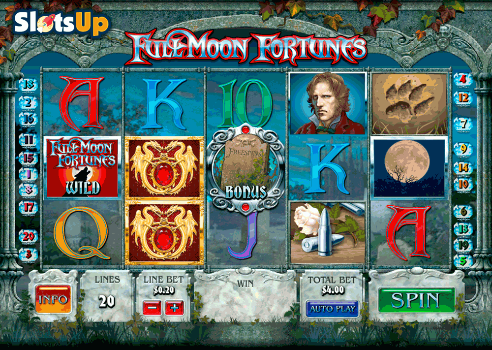 Full Moon Fortunes Slot By Playtech Play Free At Slotsup