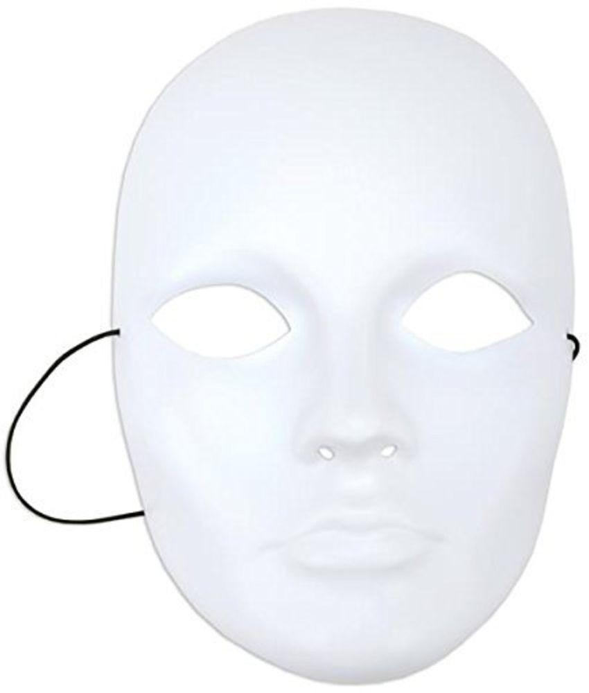 Home Kitchen Features Halloween Plain White Blank Mask   Blank ...