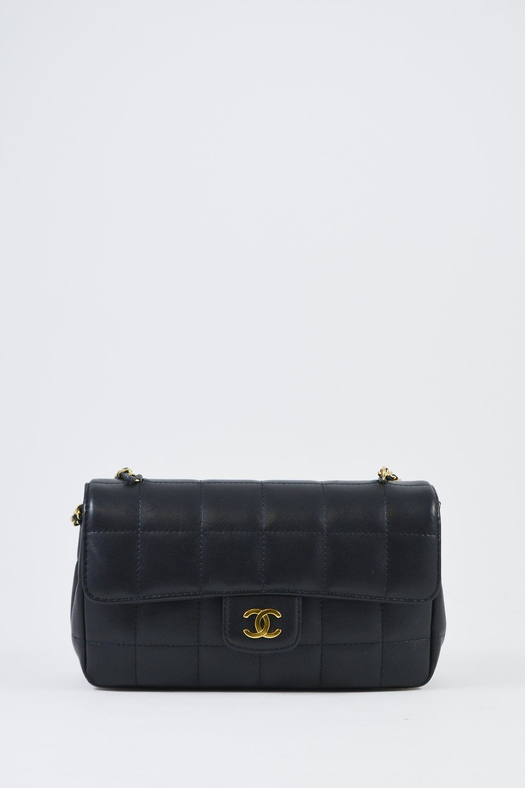 29d7aaf093d8 Chanel mini quilted leather flap shoulder bag in black. Rolled leather and  chain shouldr strap
