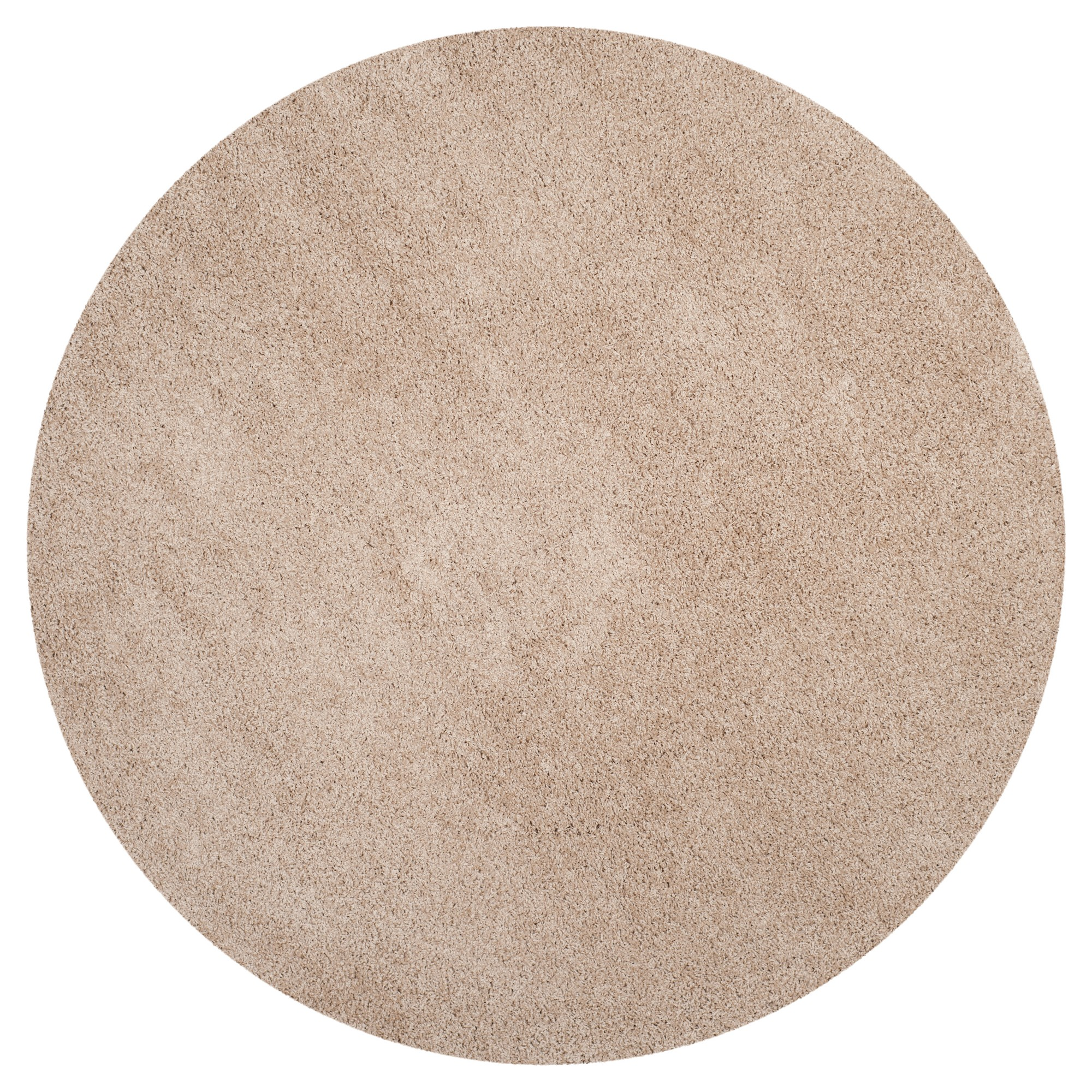 Sand Solid Loomed Round Area Rug 6 7 Round Safavieh Brown