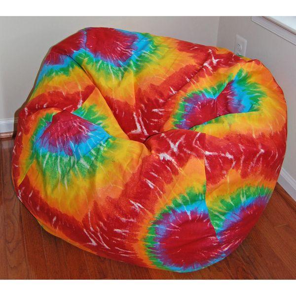 Ahh Products Rainbow Tie Dye Cotton Washable Bean Bag