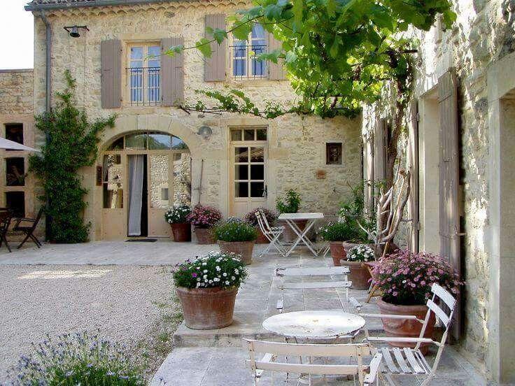 French Courtyard Garden Provence France Patio