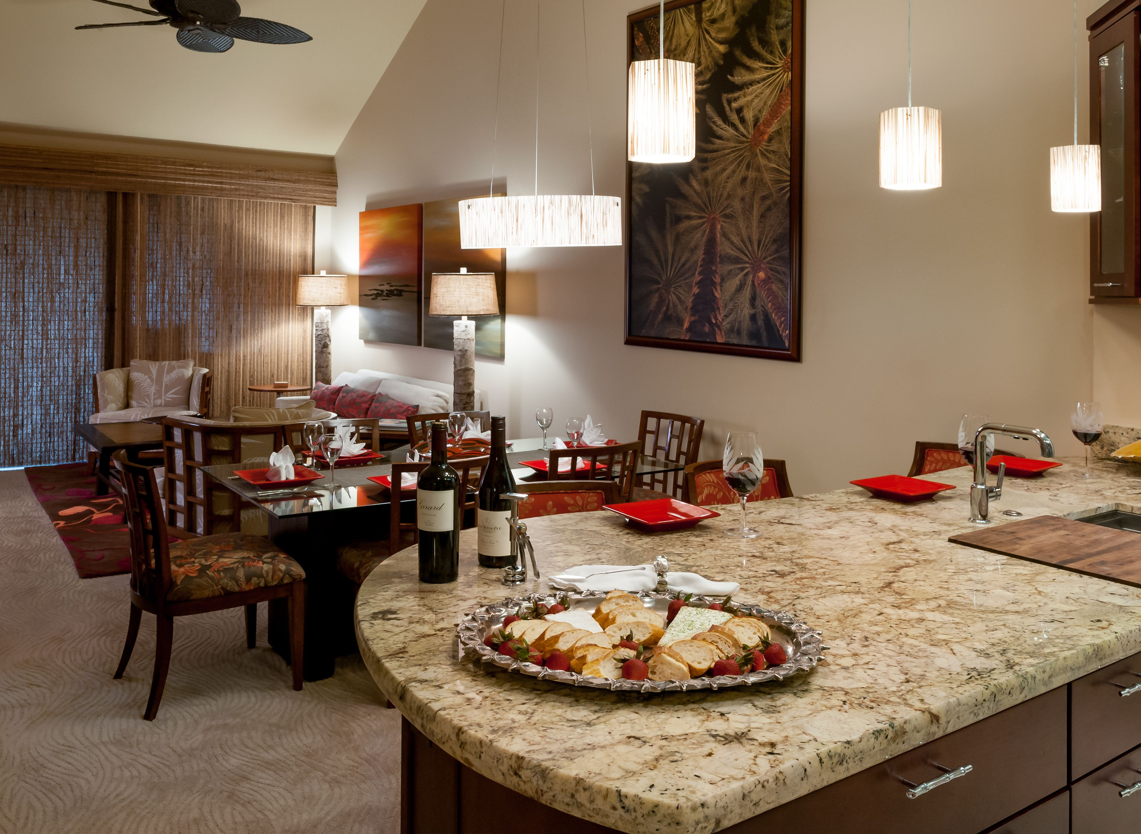 Dining Room Remodel Pictures Classy After Wailea Great Room Remodelbamboo Thatch Pendants New 2018