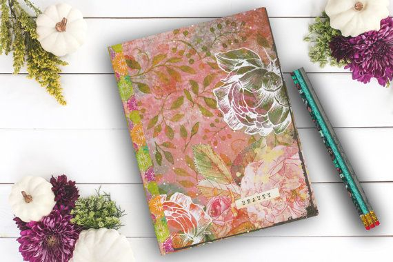 Beauty Rose Diary personal diary custom notebook by Teakberry