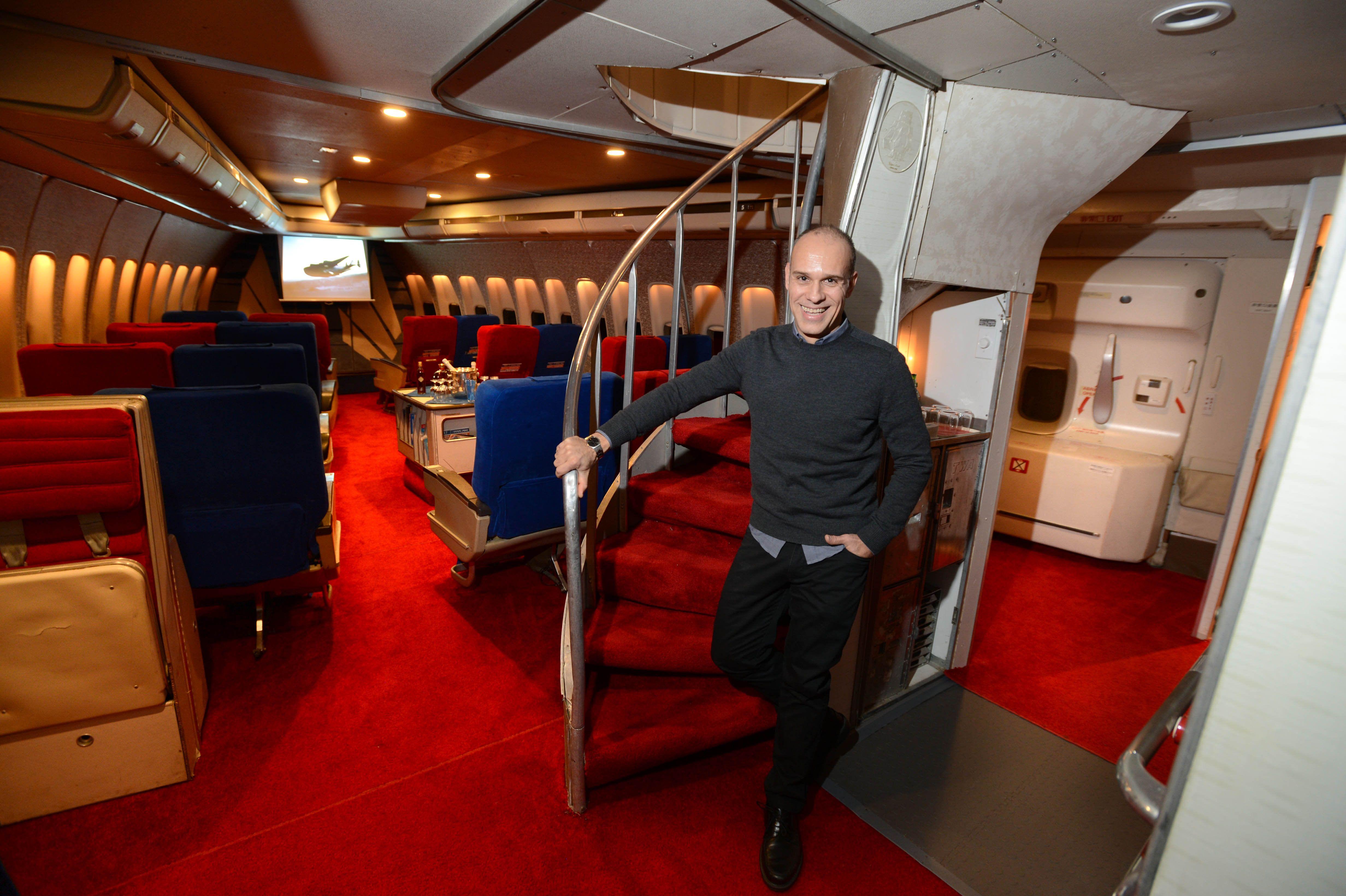 Antony Toth's self made garage mockup of a PAN AM 747