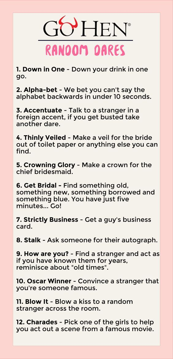 List of dares for adults