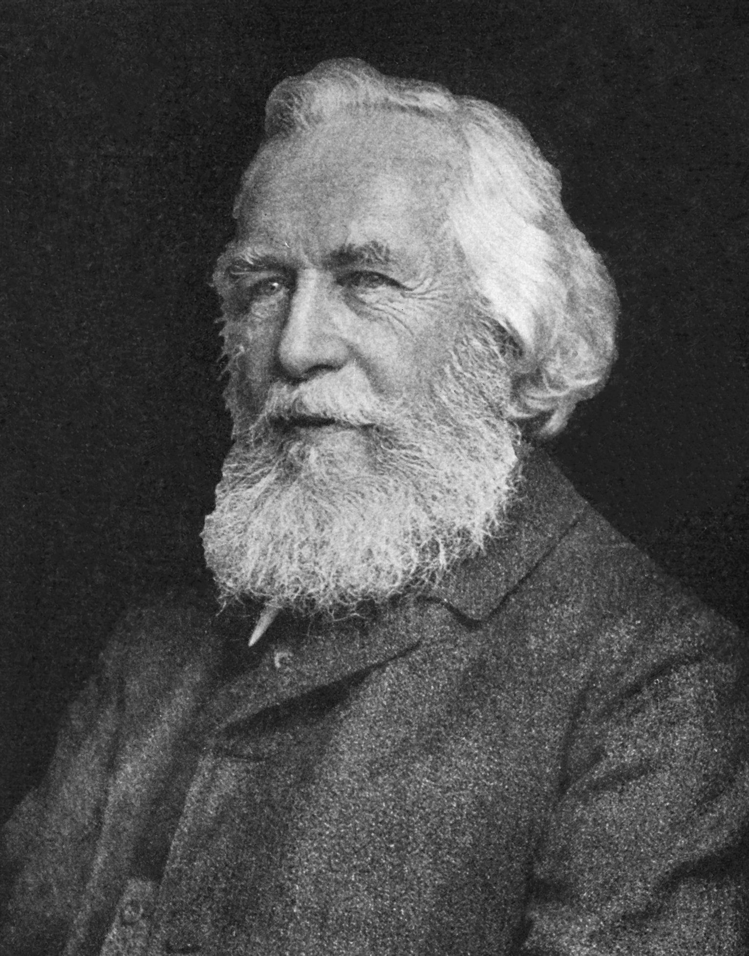 Ernst Haeckel was an eminent German biologist, naturalist, physician and artist who discovered, described and named thousands of new species, mapped a genealogical tree relating all life forms, and coined many terms in biology. (Wiki)