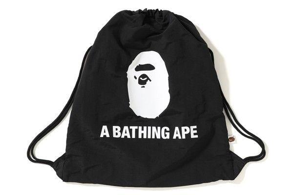 5331441a7dce A BATHING APE BACKPACK  BAPEBAG DRAWSTRING SUMMER BAG Authentic   ABATHINGAPE  DRAWSTRING