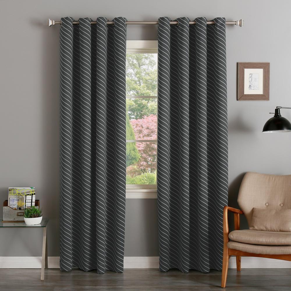 Best Home Fashion 63 In L Room Darkening Diagonal Stripe Cur