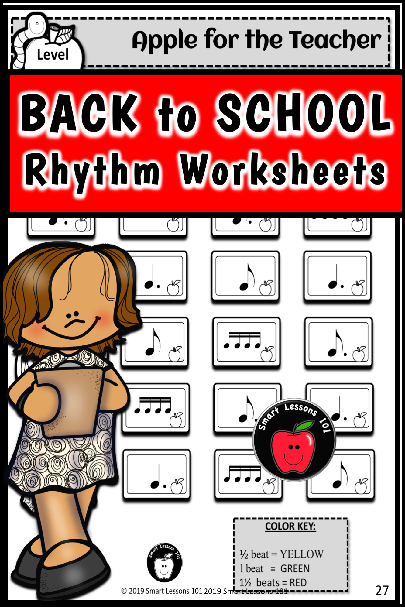 Distance Learning Rhythm Worksheets Fall Music Back To
