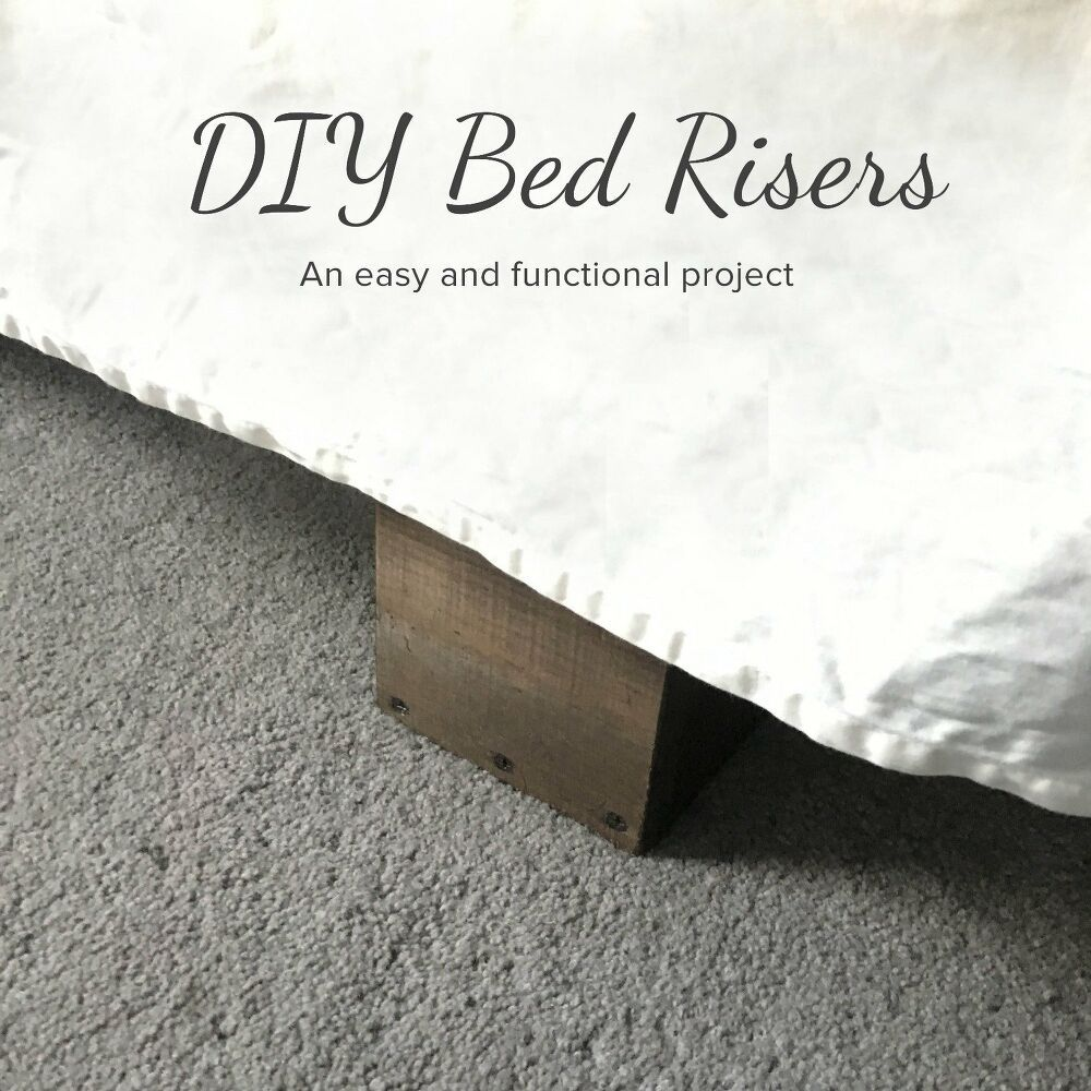 13 Diy Bed Frame Projects With Gorgeous Results Diy Bed Risers