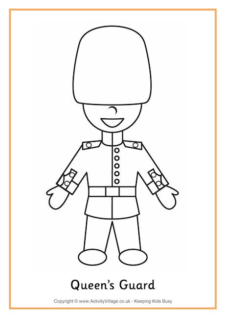 Queens Guard Colouring Page Elizabeth S 90th Birthday