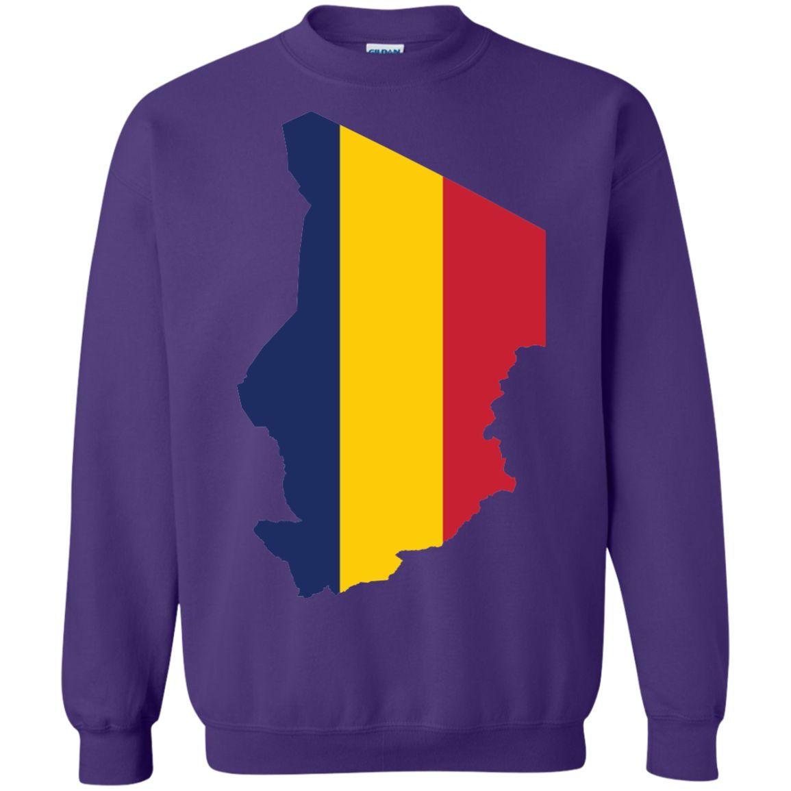 Chad flag -01 Printed Crewneck Pullover Sweatshirt 8 oz